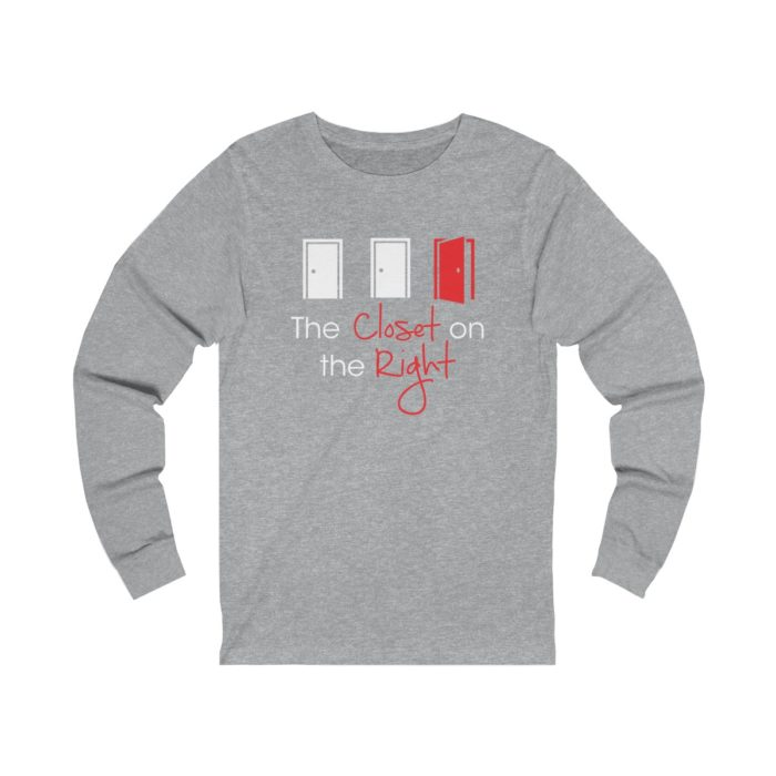 The Closet on the right long sleeve grey