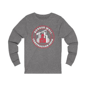 Border wall Crew Long sleeve dark grey