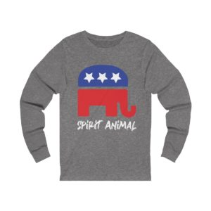 GOP Pride Spirit Animal Long Sleeve Grey
