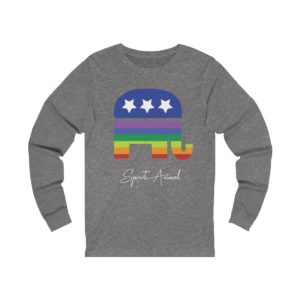 Pride Spirit Animal Grey Long Sleeve