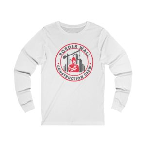 Border wall Crew Long sleeve white