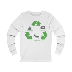 Reduce Reuse Replace long sleeve white