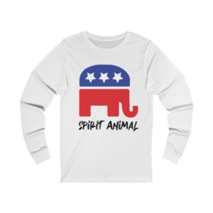 GOP Pride Spirit Animal Long Sleeve White