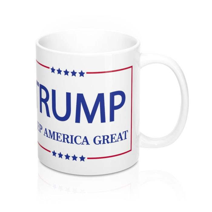 Trump Keep America Great White Mug Front