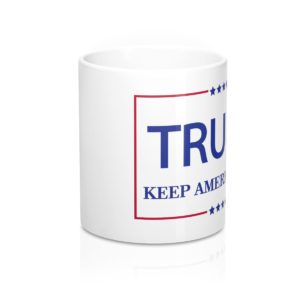 Trump Keep America Great White Mug