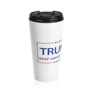 Trump Keep America Great Travel Mug Side