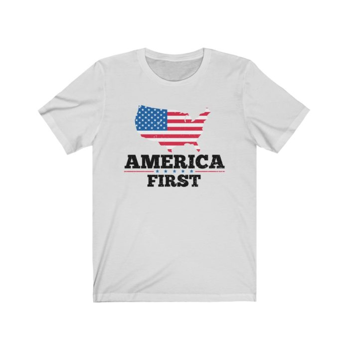 America First White Tee