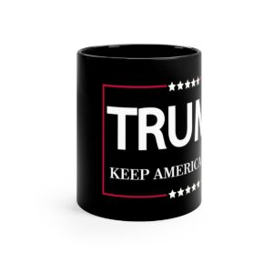 Trump Keep America Great Mug Black