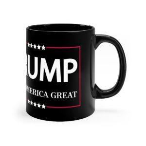 Trump Keep America Great Mug Black Side