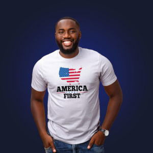 America First Tee Model